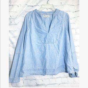Madewell • chambray v neck blouse